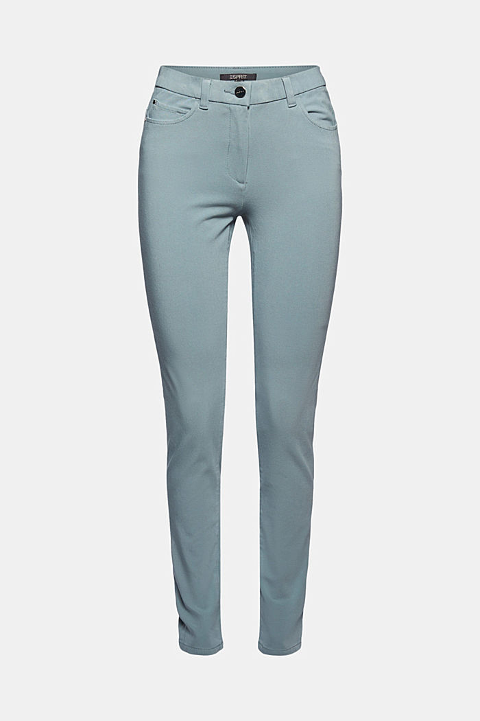 Two-way stretch trousers with organic cotton, GREY BLUE, detail image number 7