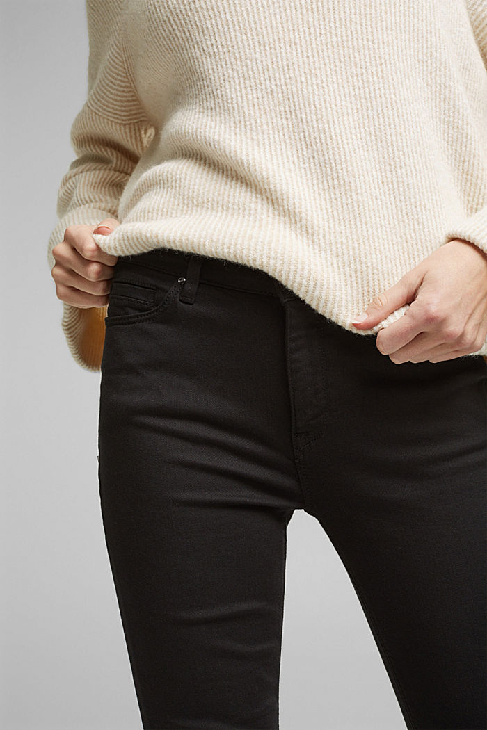 Stretch jeans containing organic cotton, BLACK RINSE, detail image number 2
