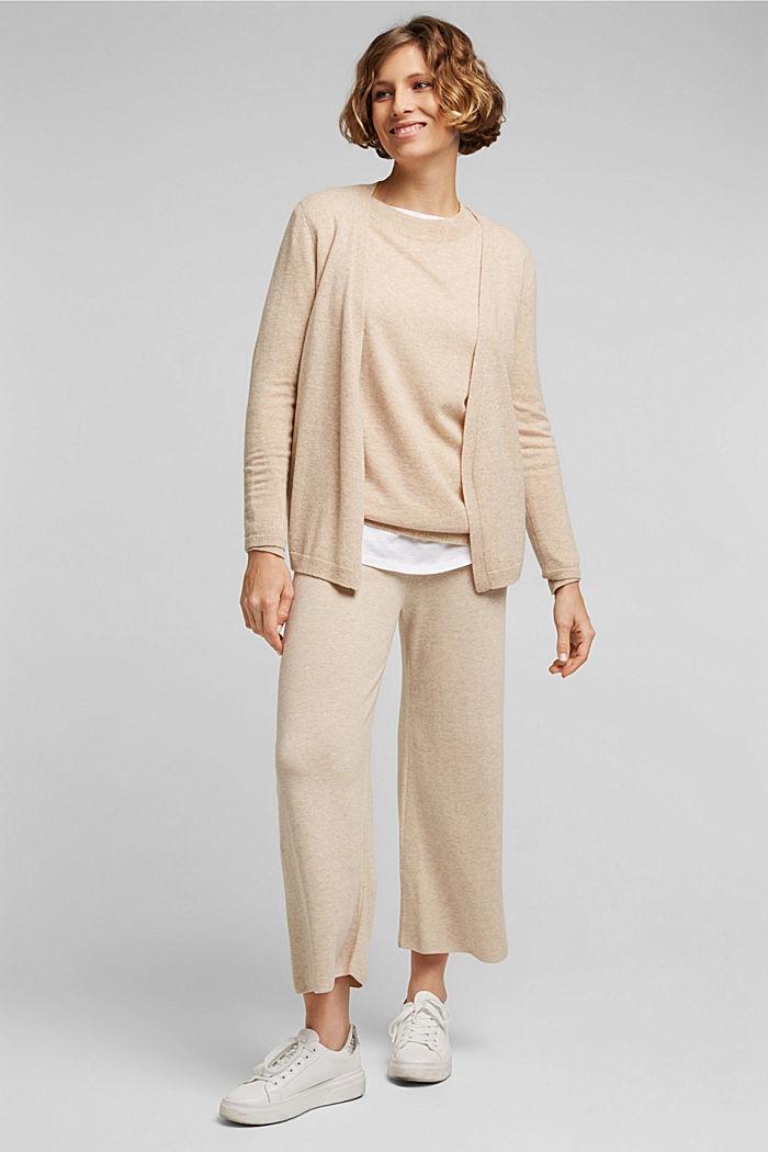 Knit culottes, SAND, detail image number 1