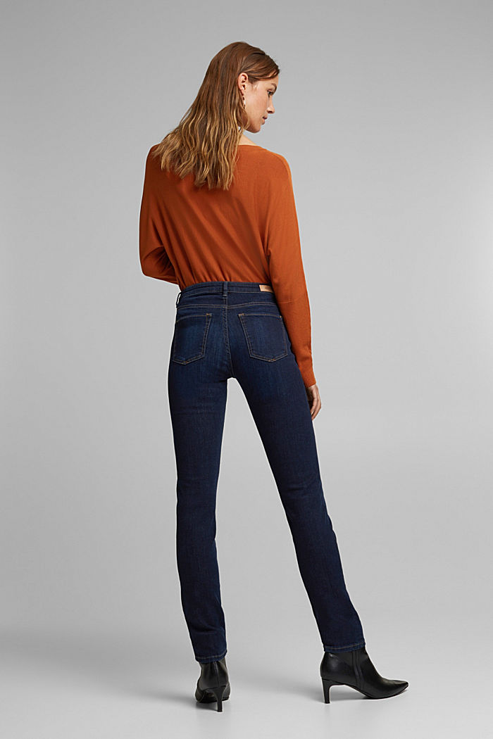 Stretch jeans with organic cotton, BLUE DARK , detail image number 3