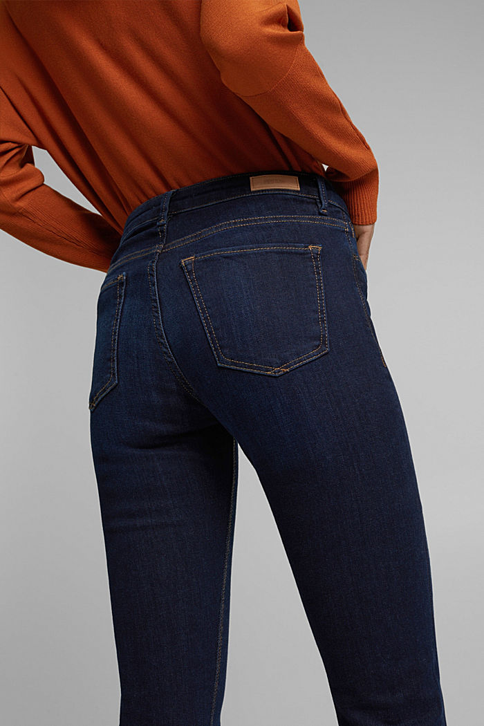 Stretch jeans with organic cotton, BLUE DARK , detail image number 5