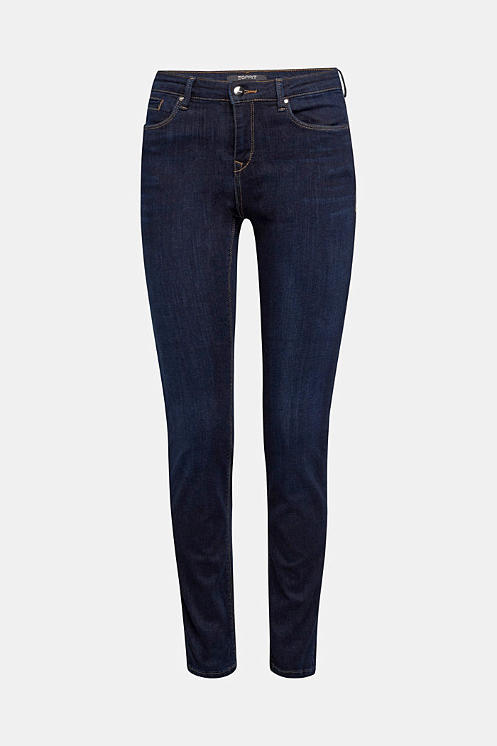 Stretch jeans with organic cotton, BLUE DARK , detail image number 7