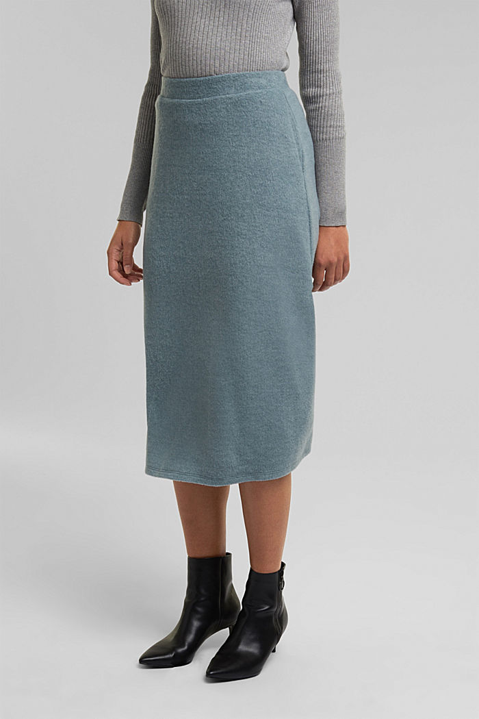 Skirts knitted, GREY BLUE, detail image number 0