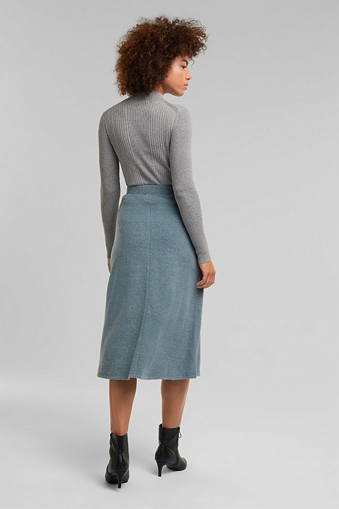Skirts knitted, GREY BLUE, detail image number 3