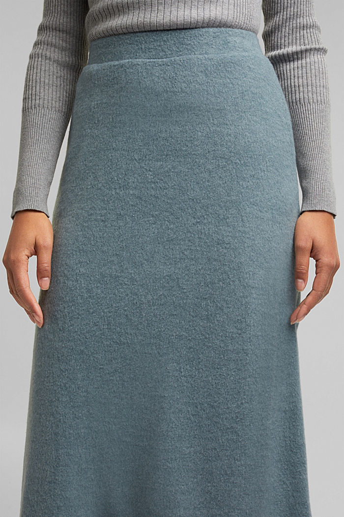 Skirts knitted, GREY BLUE, detail image number 2