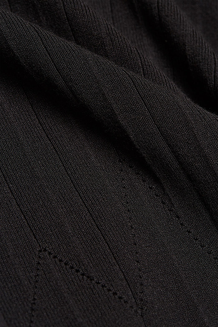 Knitted skirt made of LENZING™ ECOVERO™, BLACK, detail image number 4