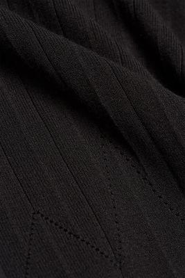 Knitted skirt made of LENZING™ ECOVERO™, BLACK, detail