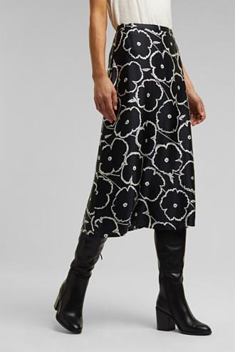 Printed skirt made of satin