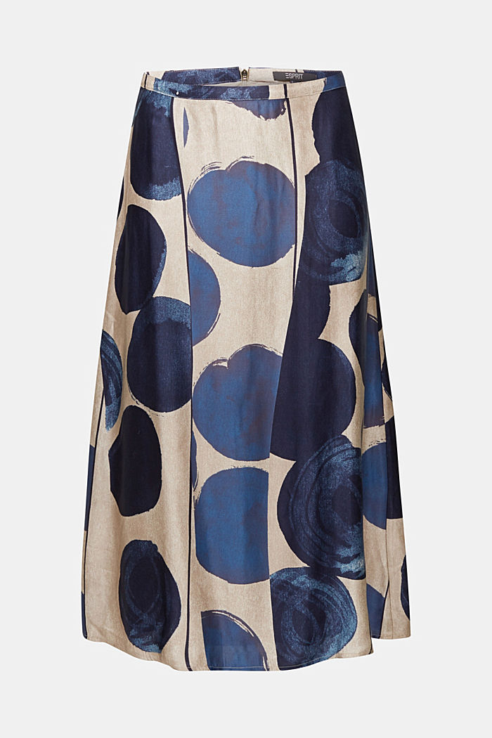 Printed skirt made of satin