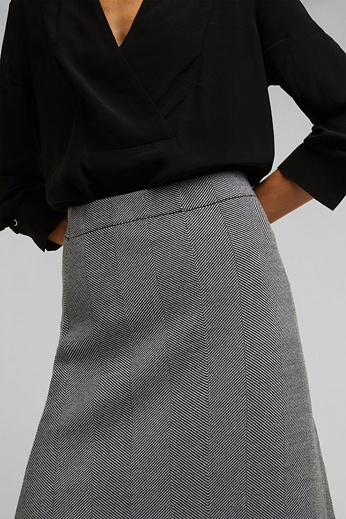 Knitted midi skirt dress with LENZING™ ECOVERO™, BLACK, detail image number 2