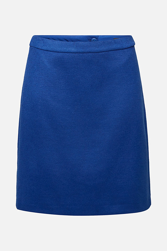 Wool blend: Brushed stretch skirt
