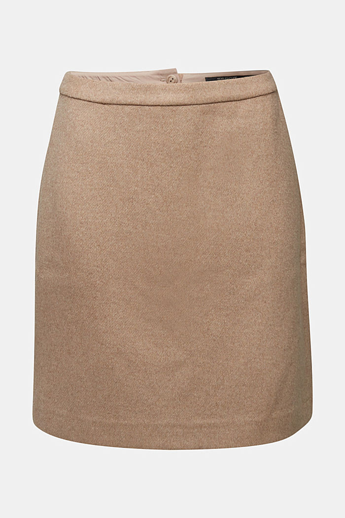 With wool: brushed stretch skirt
