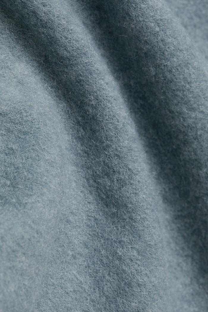 Midi-length belted knit dress, GREY BLUE, detail image number 4