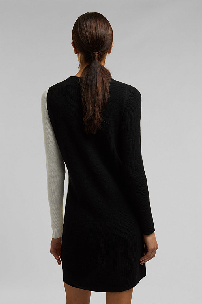 Cashmere blend: fine knit dress, BLACK, detail image number 2