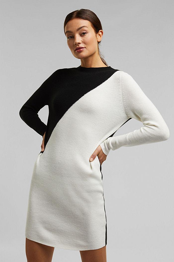Cashmere blend: fine knit dress, BLACK, detail image number 5