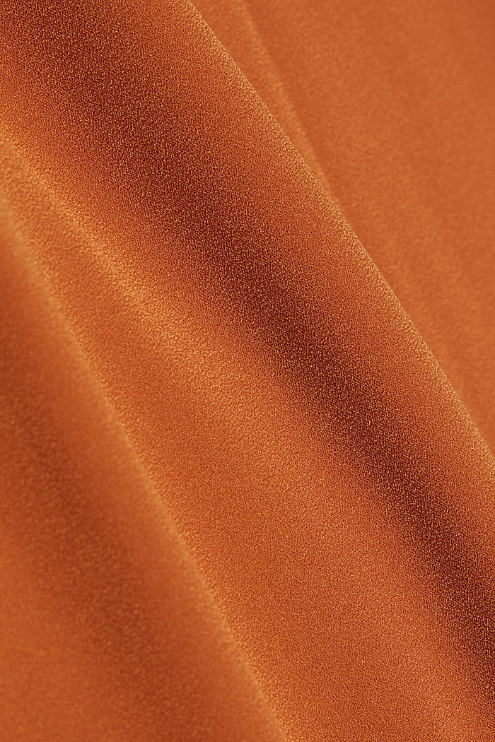 Recycled: Crêpe tunic dress, RUST BROWN, detail image number 4