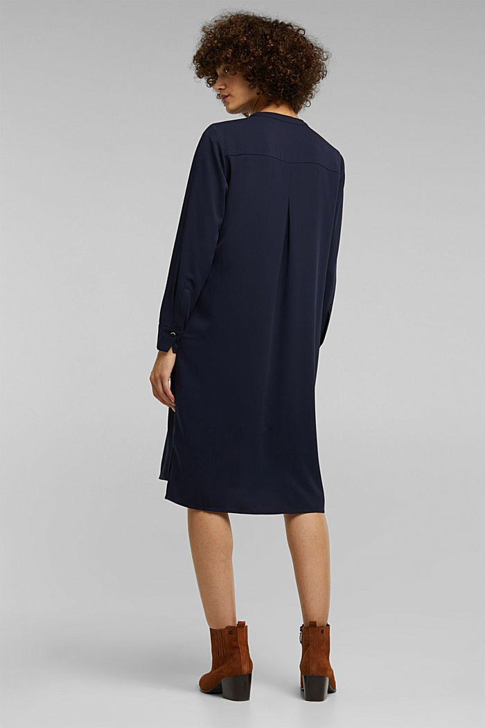 Recycled: Crêpe tunic dress, NAVY, detail image number 2