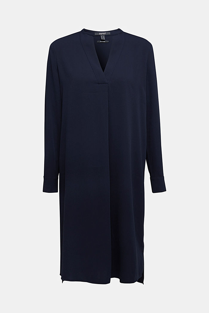 Recycled: Crêpe tunic dress, NAVY, detail image number 6
