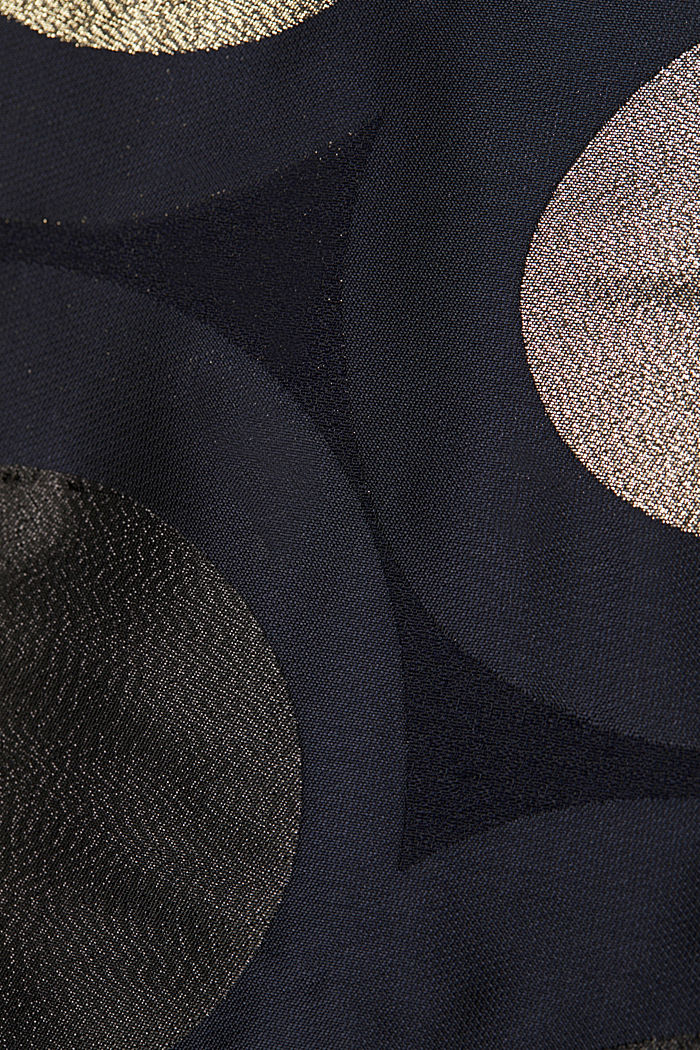 Jersey dress with a jacquard skirt, NAVY, detail image number 3