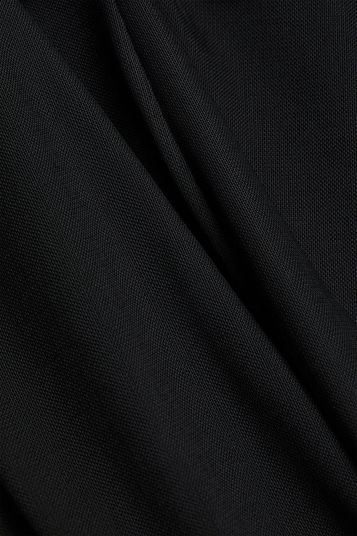 Mesh dress with stand-up collar, BLACK, detail image number 4