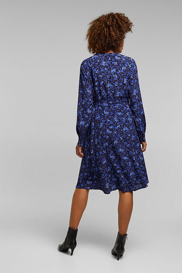 Midi-Kleid aus LENZING™ ECOVERO™, NAVY, detail image number 2