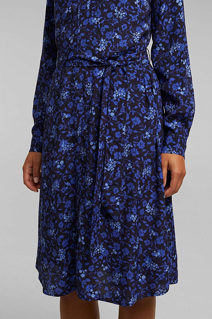 Midi-Kleid aus LENZING™ ECOVERO™, NAVY, detail image number 3