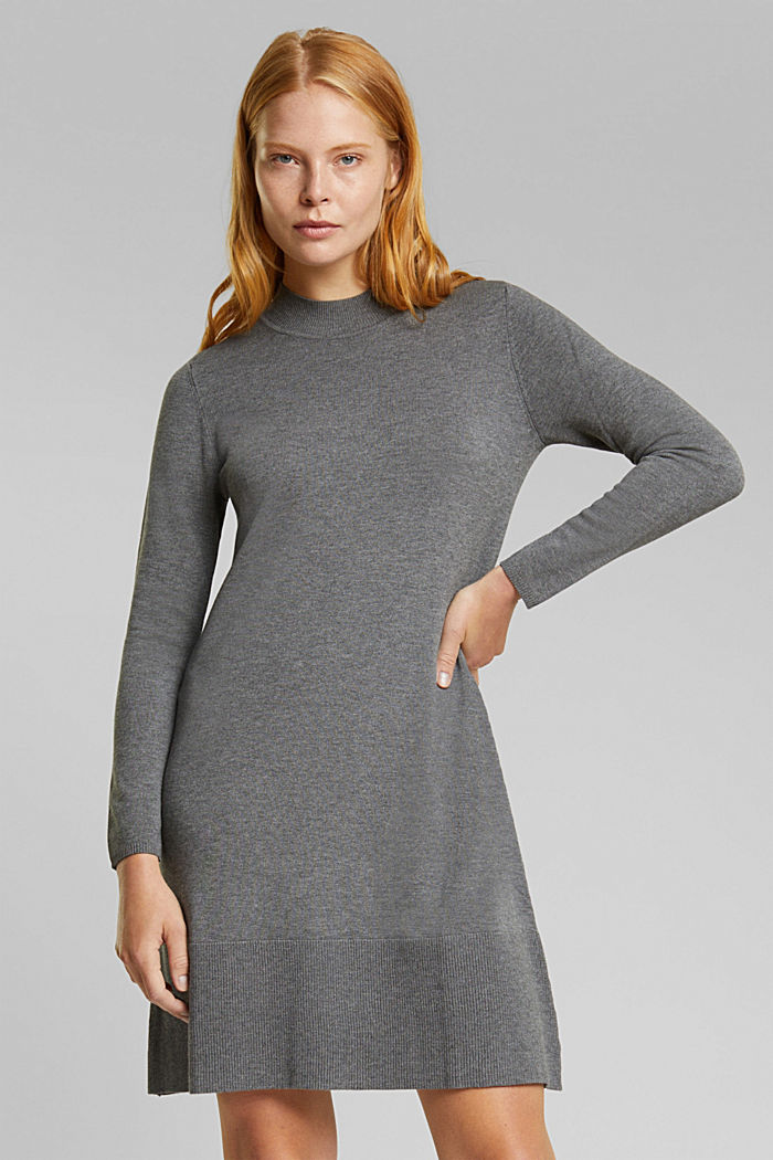Dress with LENZING™ ECOVERO™, GUNMETAL, detail image number 0