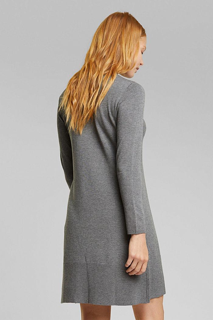 Dress with LENZING™ ECOVERO™, GUNMETAL, detail image number 2