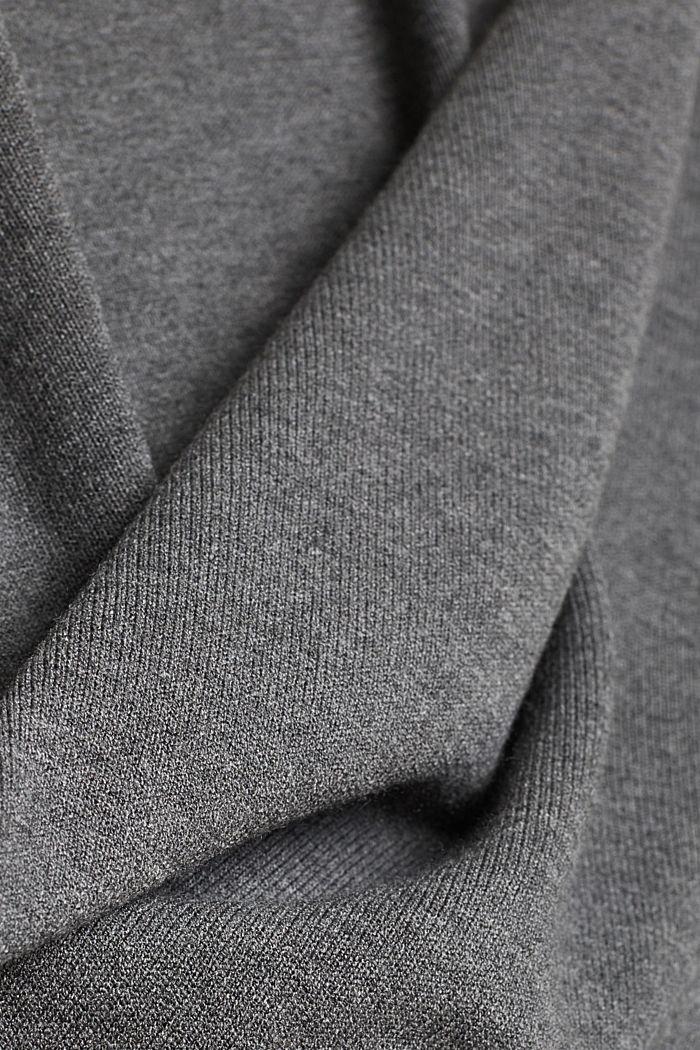 Dress with LENZING™ ECOVERO™, GUNMETAL, detail image number 4