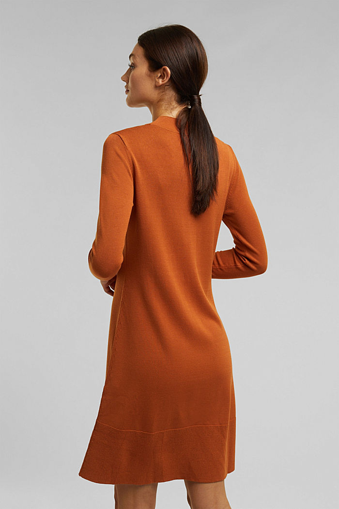 Dress with LENZING™ ECOVERO™, RUST BROWN, detail image number 2