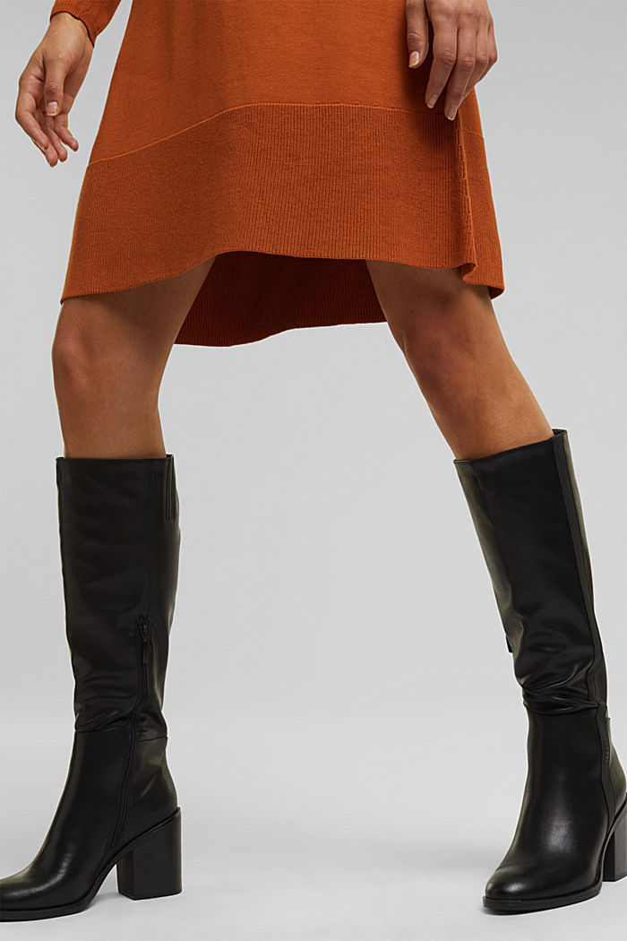 Dress with LENZING™ ECOVERO™, RUST BROWN, detail image number 6