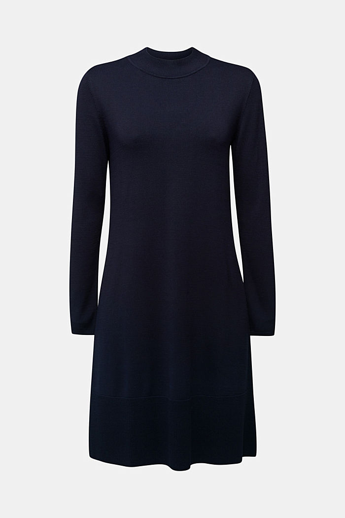 Dress with LENZING™ ECOVERO™, NAVY, overview