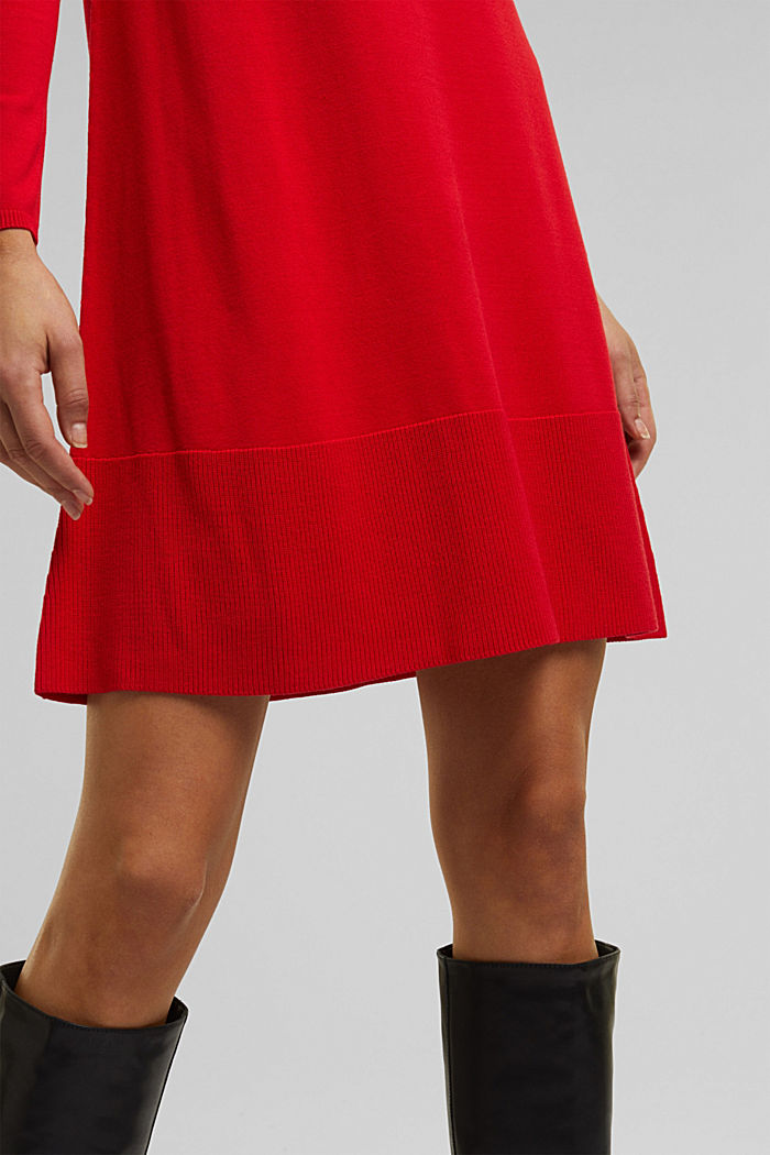 Dress with LENZING™ ECOVERO™, RED, detail image number 3