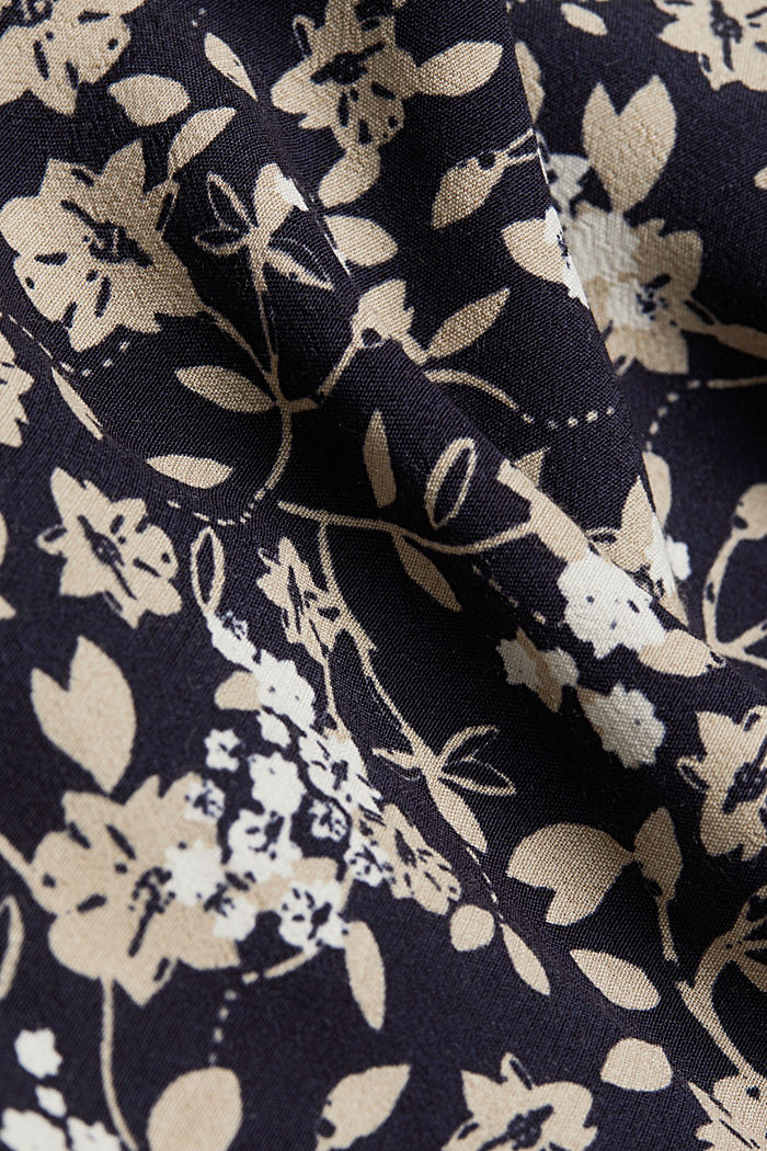 Floral dress made of LENZING™ ECOVERO™, BEIGE, detail image number 4