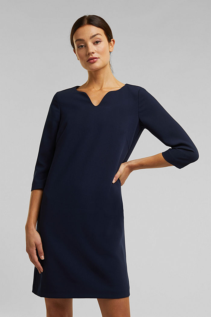 Dress with a cup neckline, NAVY, detail image number 0