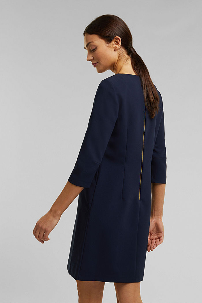 Dress with a cup neckline, NAVY, detail image number 3