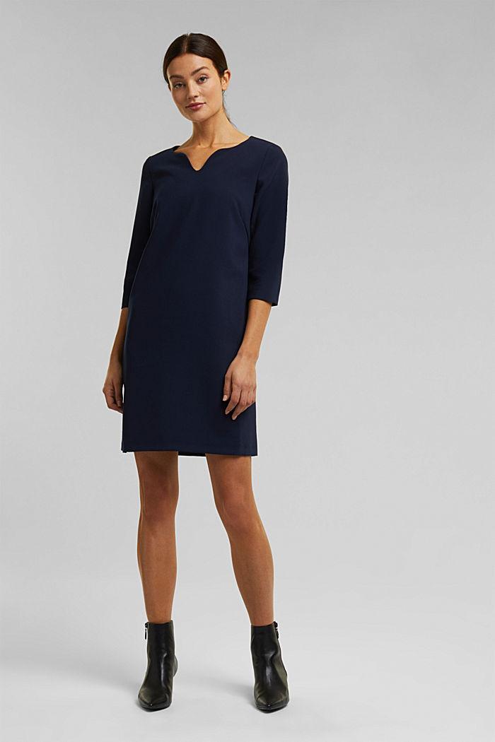 Kleid mit Kelch-Ausschnitt, NAVY, detail image number 1