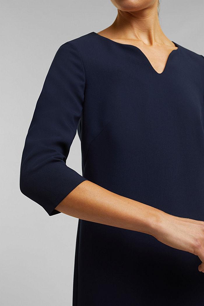 Kleid mit Kelch-Ausschnitt, NAVY, detail image number 2