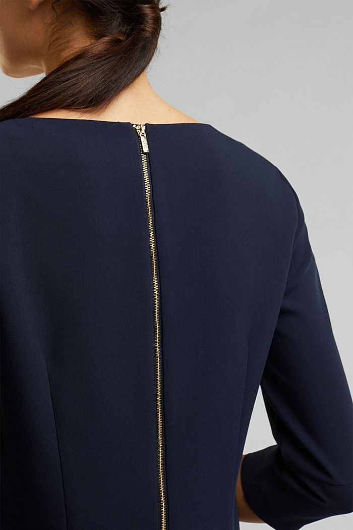 Dress with a cup neckline, NAVY, detail image number 5