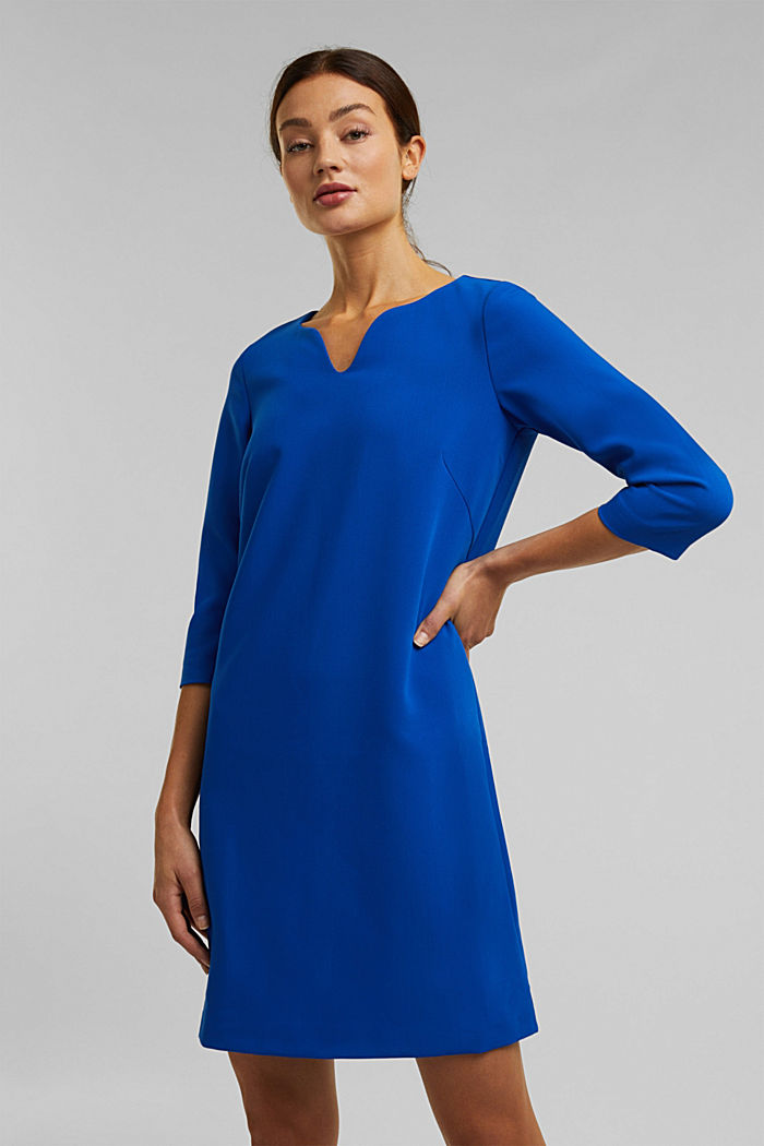 Dress with a cup neckline, BRIGHT BLUE, detail image number 0