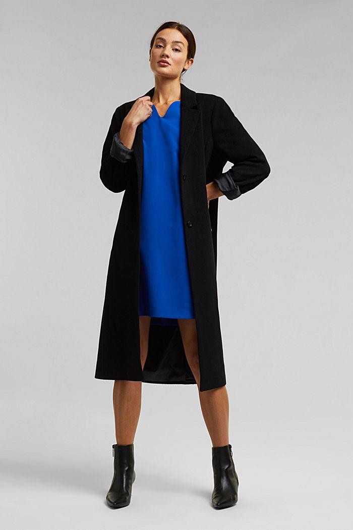Kleid mit Kelch-Ausschnitt, BRIGHT BLUE, detail image number 1