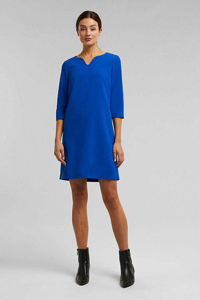 Kleid mit Kelch-Ausschnitt, BRIGHT BLUE, detail image number 6