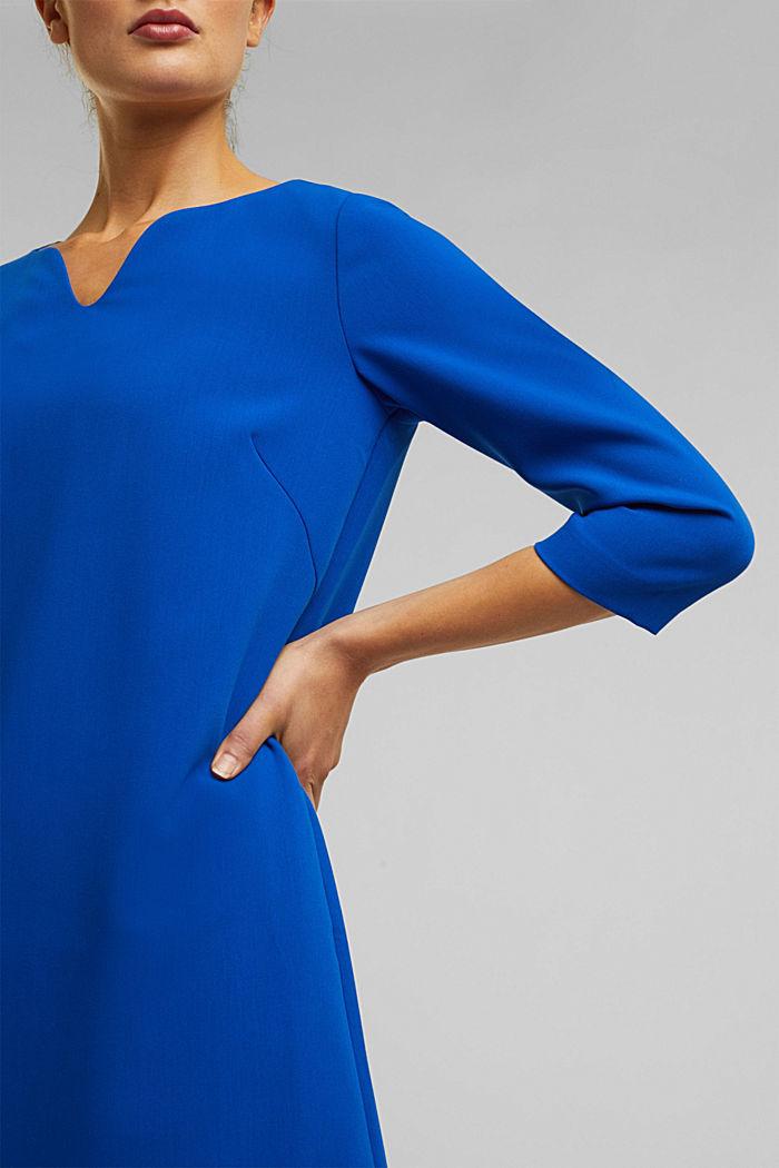 Kleid mit Kelch-Ausschnitt, BRIGHT BLUE, detail image number 2