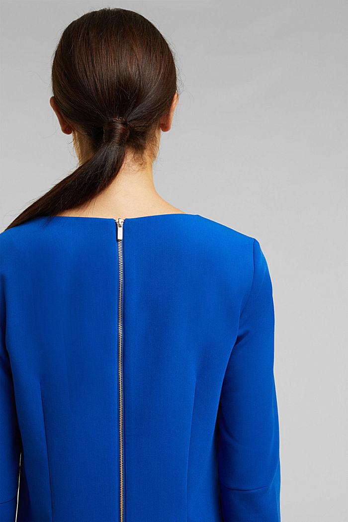 Kleid mit Kelch-Ausschnitt, BRIGHT BLUE, detail image number 5