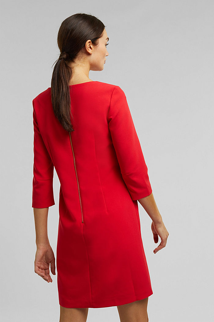 Dress with a cup neckline, RED, detail image number 3