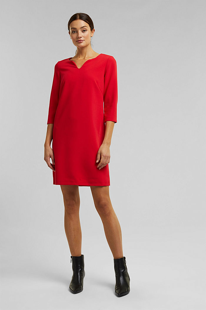 Dress with a cup neckline, RED, detail image number 1