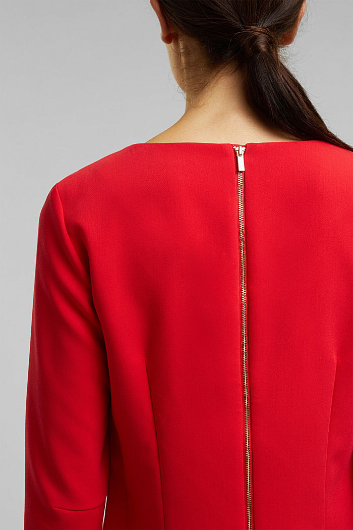Dress with a cup neckline, RED, detail image number 2