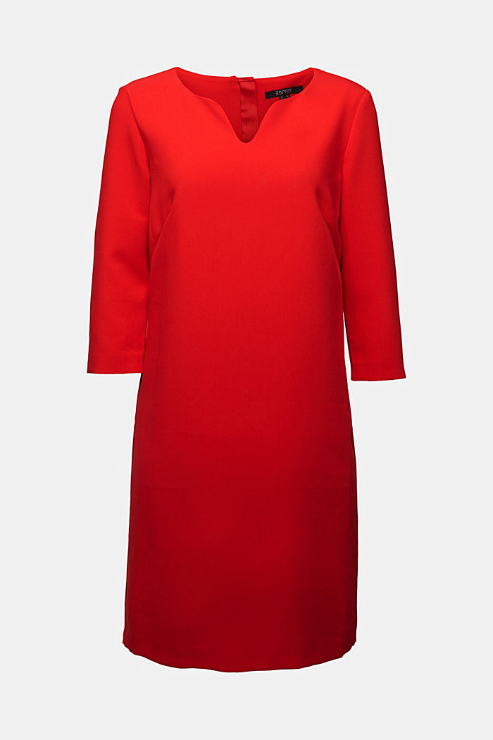 Dress with a cup neckline, RED, detail image number 5