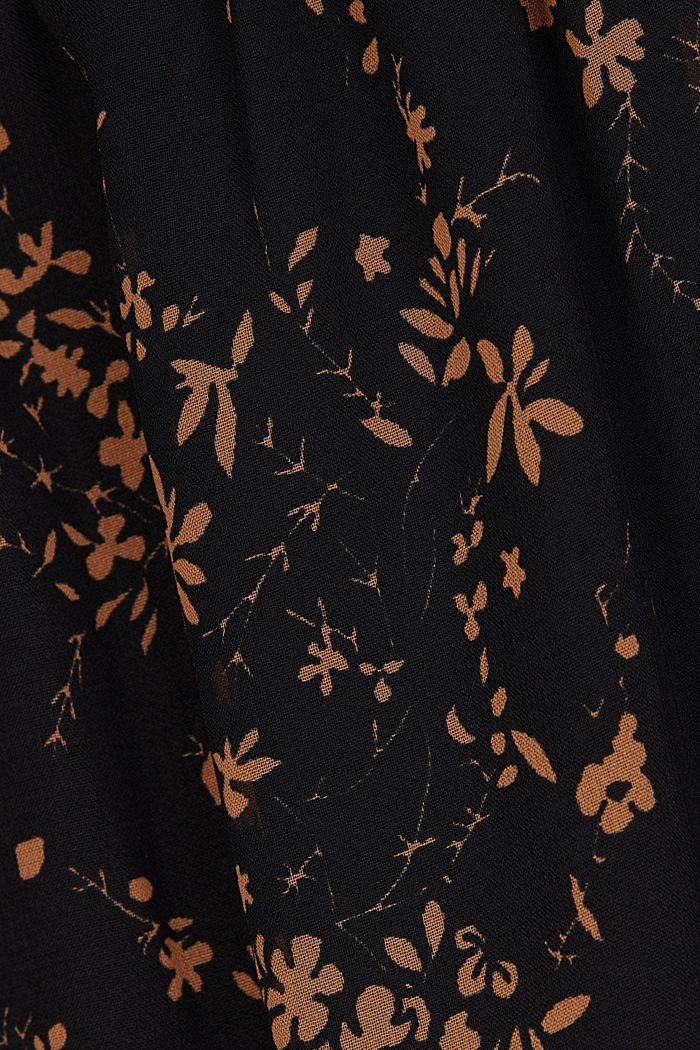 Chiffon dress with a floral print, BLACK, detail image number 4