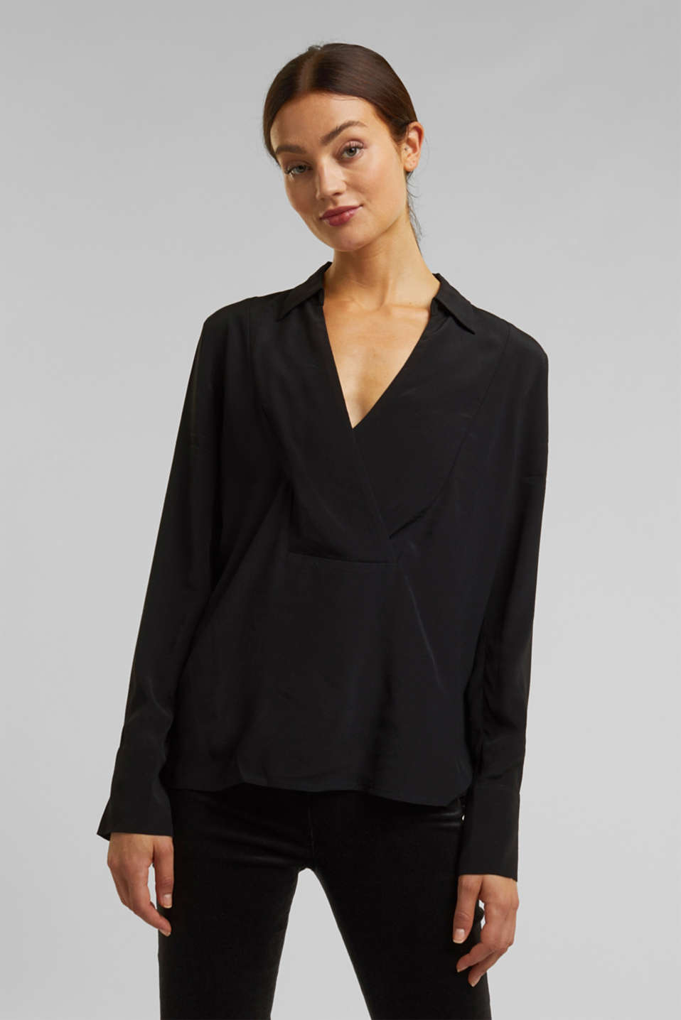 Esprit - Blouse made from LENZING™ ECOVERO™
